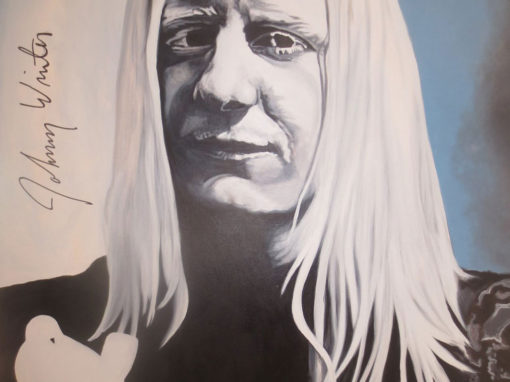 Autographed Johnny Winter