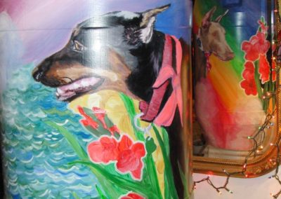 Dogs on Barrels