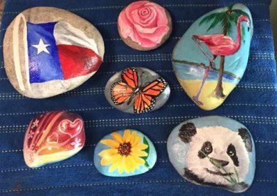 Several Painted Rocks